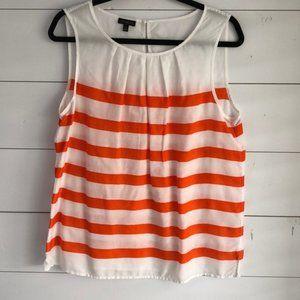 {Talbots}Sz 12 Orange/White Striped Tank Top